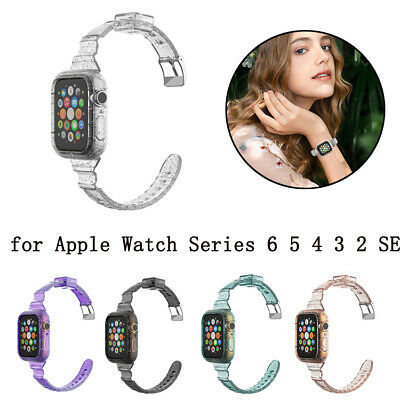 $ CDN7.49 • Buy Clear IWatch Band Glitter Strap+Case 40/44mm For Apple Watch Series 6 5 4 3 2 SE