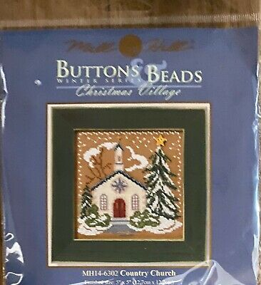 $7.99 • Buy Mill Hill Buttons & Beads Winter Series Christmas Village  Country Church