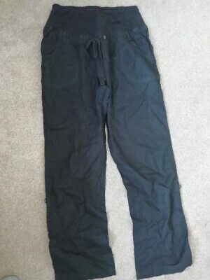 £7 • Buy Black Over Bump Maternity Cargo Trousers Size 12