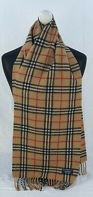 $14.59 • Buy Burberry Scarf 100% Lambswool For Men And Women Made In England Beige Th
