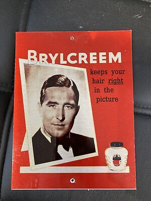 """£2.99 • Buy Barber Sign Brylcreem Old... 8""""x6"""""""