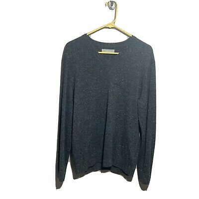 $44.95 • Buy Everlane Sweater Mens Sz M Cashmere Gray V Neck Long Sleeves Casual Soft