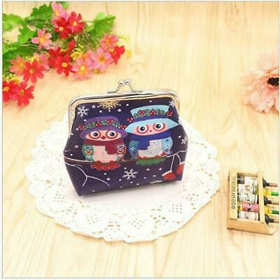 £2.99 • Buy Owl Canvas Mini Coin Wallet Purse With A Hasp