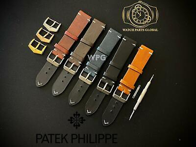 £28.99 • Buy New 18 20mm Handmade Vintage Style Leather Strap Band For Patek Philippe Watches