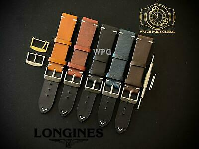 £24.99 • Buy New 18 20mm Handmade Vintage Style Leather Strap Band For Longines Watches