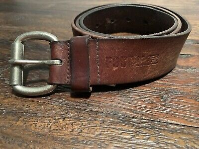 $14.99 • Buy Mens 36 Pebbled Leather Brown Belt Fossil Brand Roller Buckle Thick Full Grain