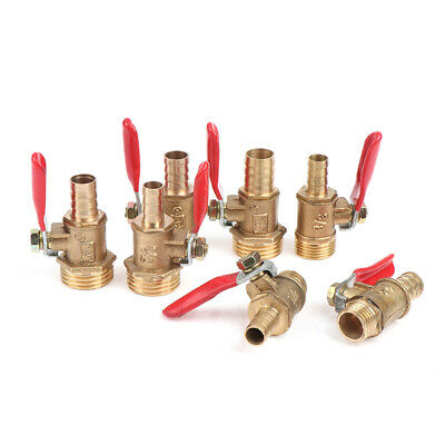 £4.45 • Buy Brass Ball Valve Hose Barb 1/4  3/8  1/2 BSP Male Thread Connector Pipe Adapt WD