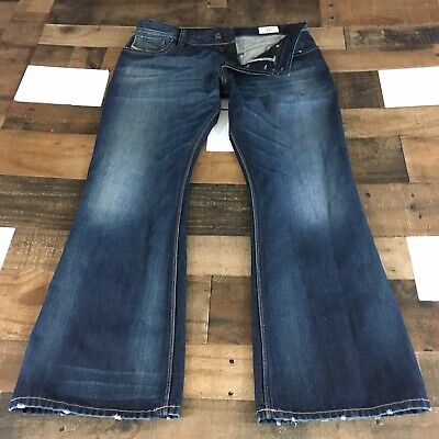 $69 • Buy Diesel Zag Jeans Relaxed Boot Cut Lightly Distressed Mens Sz 36x32