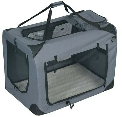 £39.99 • Buy Pet Dog Cat Fabric Soft Portable Crate Kennel Cage Carrier L 70 X 52 X52cm-Grey