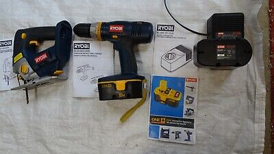£10 • Buy Ryobi 18v Drill, Jigsaw, Charger, Batteries Carry Bag And Instructions