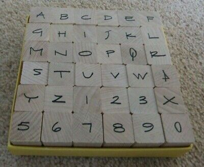 £5.99 • Buy PENNY BLACK- Lower Case - Alphabet Letters & Numbers - 36  Rubber Stamps