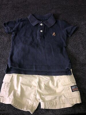 £1.40 • Buy Baby Boy Clothes 6-12 Months Gap Outfit Shorts And Top VGC