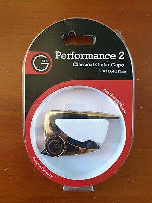 $ CDN55.06 • Buy G7th Capo Classical Guitar Celtic Engraving 18kt Gold Plated Unused