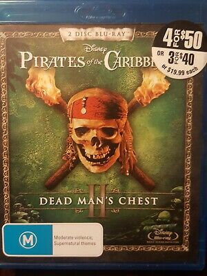 AU7.95 • Buy Pirates Of The Caribbean 2: Dead Man's Chest Blu Ray - Johnny Depp 2 Disc Set