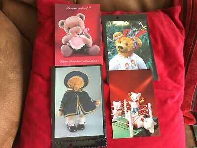£2 • Buy Teddy Bear Postcards..... 4 Different Cards. Dutch, American, And UK. Unused.