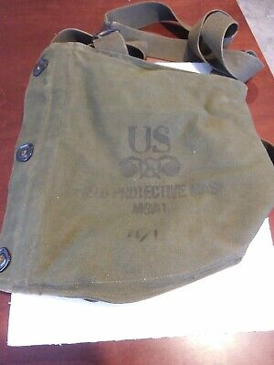 $40 • Buy Vintage Us Military Army M9a1 Field Protective Gas Mask Empty Bag