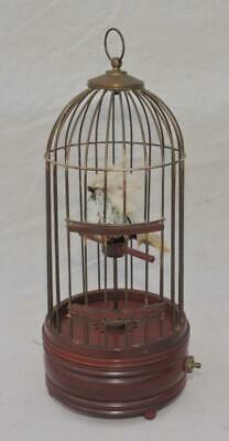 £120 • Buy VINTAGE Hand Crafted ELECTROMECHANICAL SINGING BIRD IN CAGE AUTOMATON MUSIC BOX