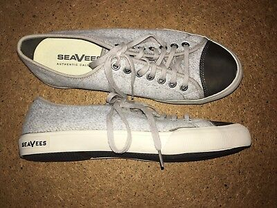 £16.54 • Buy Womens SEAVEES California Ash Jersey Shoes Tie Lace Up Gray Sz 9.5 NEW No Box