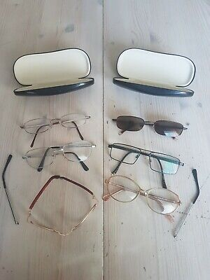 £4 • Buy 6 Pairs Of Reading Glasses, 1 Childs Folding Glasses, 2 Cases, 2 Arms For Spares