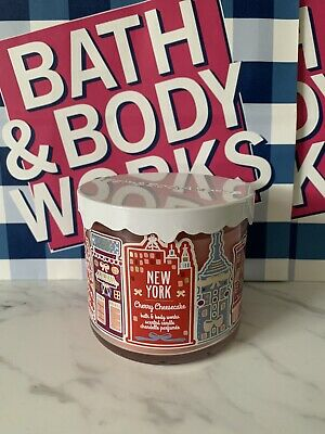 £13.30 • Buy Bath And Body Works New York Cherry Cheesecake Rare 3 Wick Candle