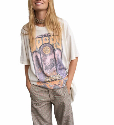 $65 • Buy DAYDREAMER FREEPEOPLE The Doors Concert Poster Tee L New W/ Defects