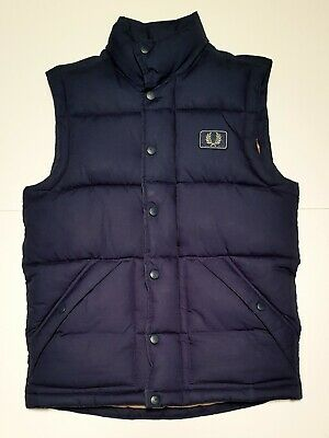$6.94 • Buy Men's FRED PERRY Original Signature Branded Vintage Quilted Gilet Bodywarmer -S