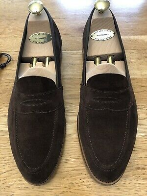 £82 • Buy Edward Green Ventnor Brown Suede Loafer Size 7.5 RRP £725 Shoe Trees & Shoe Bags