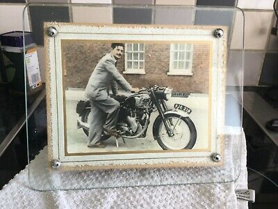 £14.99 • Buy Art Deco / Vintage Frameless Thick Glass Picture / Photo Frame See Pictures