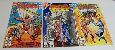$19.95 • Buy Masters Of The Universe #1 #2 & #3 Complete Mini - Lot Of 3 DC Comics 1982 FN/VF