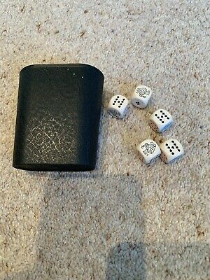 £2 • Buy Vintage Poker Dice With Shaker