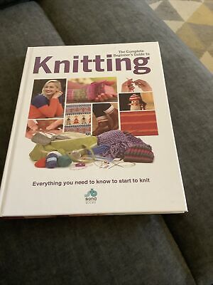 """£8 • Buy """" The Complete Beginners Guide To Knitting """" Hardback Book. New."""