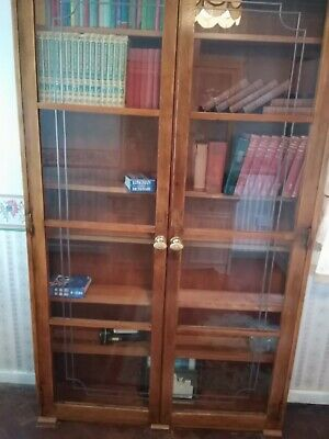 £100 • Buy Beautiful Glass Fronted Bookcase. The Shelves Are Adjustable.
