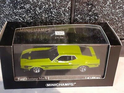 £74.99 • Buy Minichamps 400087121 Ford Mustang  Mach 1 1971 In Green 1:43 Very Rare.