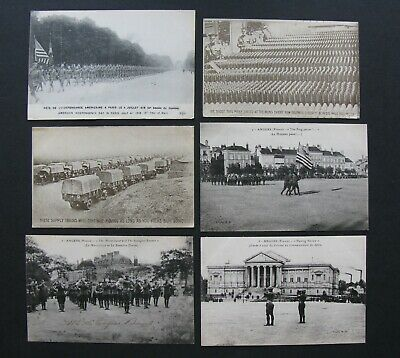 $34.95 • Buy Lot Of 6 WWI American Military Real Photo Postcards. VG