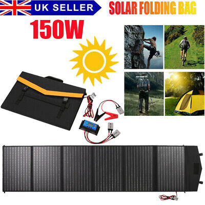 £106.88 • Buy 150w 18v Foldable Solar Panel Kit Mono Home Battery Charger Camping Rv Boat Car