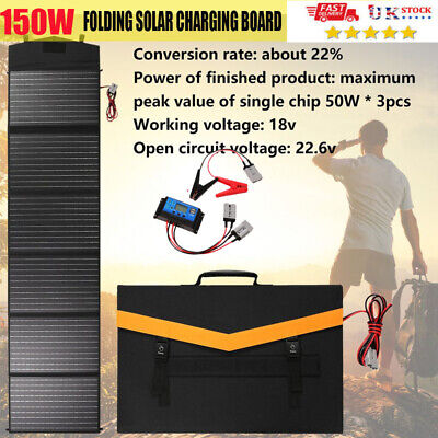 £106.88 • Buy 150W 18V Portable Folding Solar Panel Board Bag With Charging Controller UK 2021