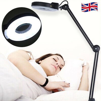 £33.19 • Buy 5X Magnifying LED Light Clip-on Table Salon Tattoo Makeup Loupe Magnifier Lamp