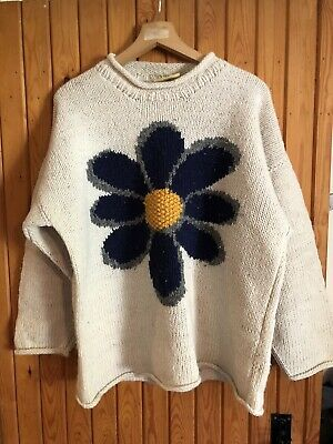 """£21 • Buy Pachamama 100% Wool Jumper Pullover L/XL 48"""" Chest"""