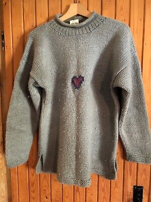 """£7 • Buy Pachamama 100% Wool Jumper Size M/L 42"""" Chest"""