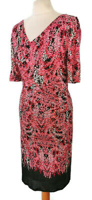 £25.97 • Buy Boden Size 10R Pink Grey White Abstract Spotty Fitted V Neck Lined Dress Party