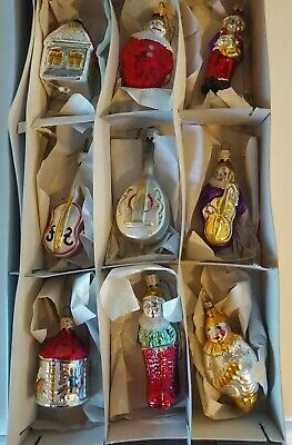 $ CDN18.75 • Buy Vintage Glass Reproduction Christmas Ornaments Lot Of 9