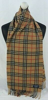 $1.67 • Buy Burberry Scarf 100% Lambswool For Men And Women Made In England Beige M