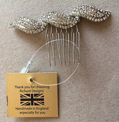 £15 • Buy Richard Designs Art Deco Style Silver Hair Comb, Perfect For Wedding Hair