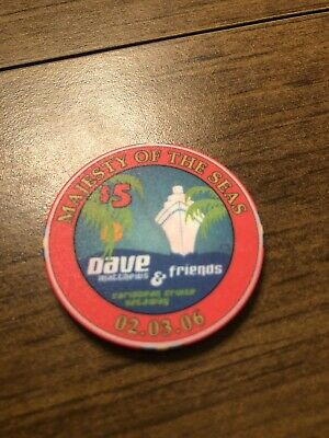 $29.99 • Buy $5 Majesty Of The Seas Dave Matthews Wet Cruise  Casino Chip Shipping Is 3.99