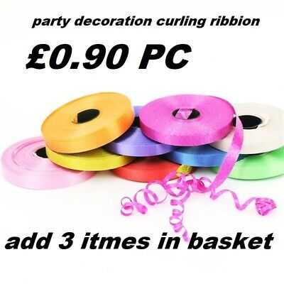 £1.79 • Buy 100M Curling String Colour Balloon Ribbon Balloons Weight Gift Decoration Fancy