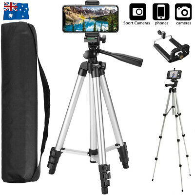 AU12.90 • Buy Universal Telescopic Camera Tripod Stand Holder Phone Mount For IPhone Samsung