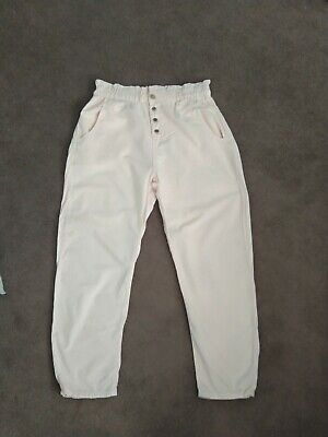 £7 • Buy Womens Zara Pink Linen (paperbag) Trousers Size 10 - Can Be Used As Maternity