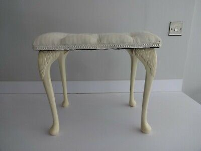 £29.99 • Buy Vintage Sherborne Dressing Table Stool/Seat-Queen Anne Style Legs-Buttoned Cream