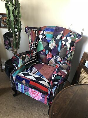 £195 • Buy Stunning Large Patchwork Chesterfield Button Backed Armchair, Boutique Style