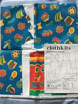 £10 • Buy Clothkits Sewing Kit Baby Dungarees Size 6-12-18-24 Months